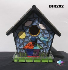 MOSAIC BIRDHOUSE - HANDMADE - TILES & GLASS TILE Look great at your Home BIR202