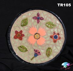 Mosaic Trivet Handmade & Glass Tiles Look Nice on the counter in your Home TR105