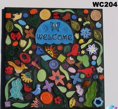 Flower Welcome Mosaic Handmade House Welcome Sign Great at your Home - WC204