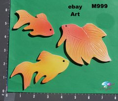 3 Assorted Fish and Handmade Mosaic Tiles Great for your Project M999