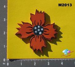 Orange Flower Handmade Mosaic Tiles M2013