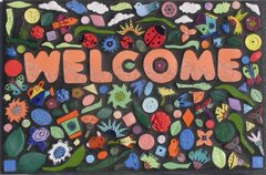 Flower Welcome Sign Mosaic Handmade would Look Great in your Home - WC203