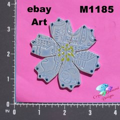 Blue Flower Handmade Mosaic Tiles for your Projects M1185