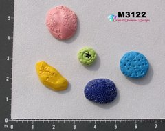 5 Assorted Nuggets Handmade Mosaic Ceramic Tiles M3122