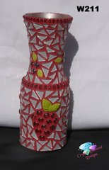 Mosaic Wine Carafe Handmade by the Artist look Great on your Bar W2116
