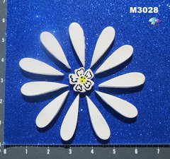 White Flower Handmade Mosaic Ceramic Tiles M3028