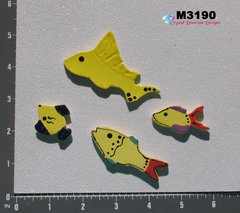 4 Assorted Fish Handmade Mosaic Ceramic Tiles for your Project M3190