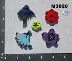 5 Assorted Flowers Handmade Mosaic Ceramic Tiles M3020