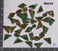 Green Spotted  Do - Dads Filler Tiles Handmade Mosaic Tiles M2332