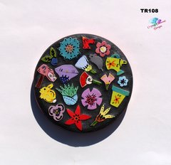 Mosaic Flowered Trivet Handmade Tiles Look Nice on the counter in your Home TR108