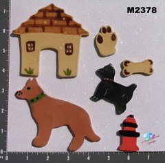 Assorted Doggies and Things -  Handmade Ceramic Mosaic Tiles for your Projects M2378