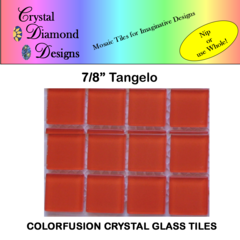 "12 - 7/8"" Tangelo Crystal Glass Mosaic Tiles for your Mosaic Designs TANWH"