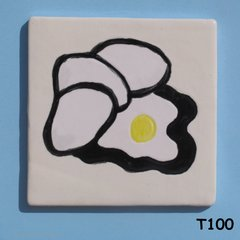 "3"" x 3""  Eggs Tile - Handmade ceramic Mosaic Tile For your Projects T100"