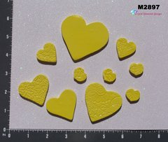10 Assorted Hearts Handmade Mosaic Ceramic Tiles For your Projects M2897