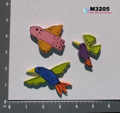 3 Assorted Birds Handmade Mosaic Ceramic Tiles For your Mosaic Projects M3205