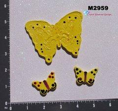 Butterflies Kiln Fired Hand Paint Handmade Mosaic Ceramic Tiles M2959