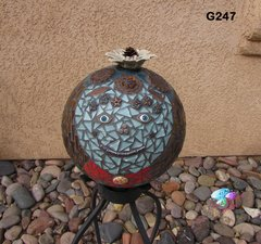 Gazing Ball Sphere Handmade Mosaic Look beautiful in our Yard G247