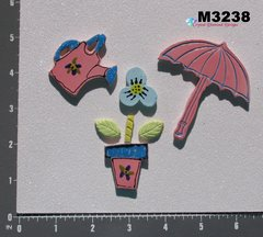 GARDENING TOOLS - HANDMADE CERAMIC TILES FOR USE in your MOSAIC DESIGNS M3238