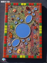RETRO MOSAIC Mosaic WALL MIRROR, HANDMADE with a lot of BEAUTIFUL THINGS MR119