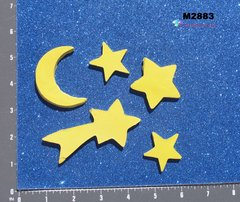 Stars and Moon Handmade Mosaic Ceramic Tiles M2883
