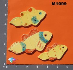 Yellow Fish Handmade Mosaic Tiles M1099