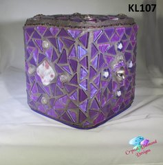 Purple Glass Tissue Box Cover Handmade Mosaic Cover for your Home KL107