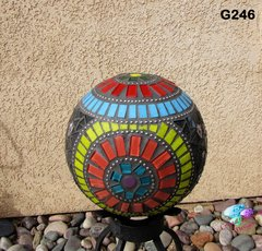 Gazing Ball Sphere Handmade Mosaic Look beautiful in in your back yard G246