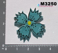 Blue / Teal Flower Large  Handmade Mosaic Tiles for your Projects M3250