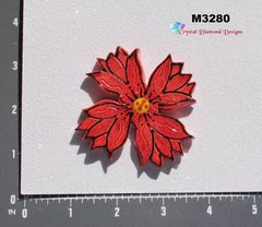 Red Flower Extra Large  Handmade Mosaic Ceramic Tiles for your Projects M3280