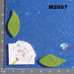 Flower and Leaves  Handmade Mosaic Ceramic Tiles M2607