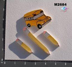 Bus, Pencils Tiles Handmade Mosaic Ceramic Tiles M2684