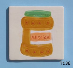 "3"" x 3""  Allspice Tile - Handmade ceramic Mosaic Tiles for your Projects T136"