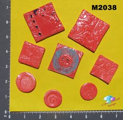 Red Do - Dads Filler Tiles Handmade Mosaic Tiles M2038