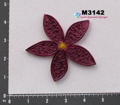 Red Flower Handmade Mosaic Tiles for your projects M3142