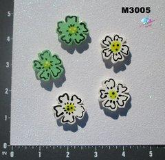 5 Assorted Flowers Handmade Mosaic Tiles M3005