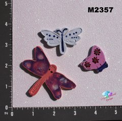 Assorted Butterflies and Dragonflies Handmade Mosaic Tiles M2357