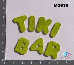 Tiki Bar Letters Handmade Mosaic Ceramic Tiles for your Projects M2635