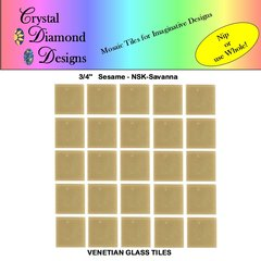 "50 - 3/4"" Venetian Sesame Savanna Glass Mosaic Tiles for your Project SESSA"