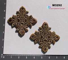 2 Brown Element Tiles Handmade Mosaic Ceramic Tiles for your Designs M3292