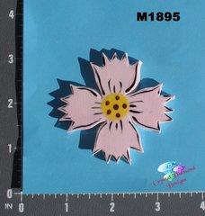 Pink Flower Handmade Mosaic Tiles M1895