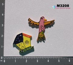 Bird and Bird House Handmade Mosaic Ceramic Tiles for your Mosaic Projects  M3208
