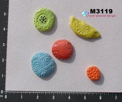 5 Assorted Nuggets Handmade Mosaic Ceramic Tiles M3119