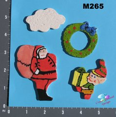 Christmas Handmade Mosaic Ceramic Tiles for your Projects M265