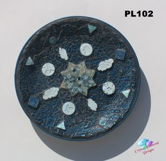 Blue Mosaic Wall Art or Table Art Handmade Would Look Great in your Home PL102