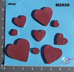 9 Assorted Hearts Handmade Mosaic Ceramic Tiles For your Projects M2020