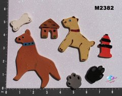 Assorted Doggies and Things -  Handmade Ceramic Mosaic Tiles for your Projects M2382