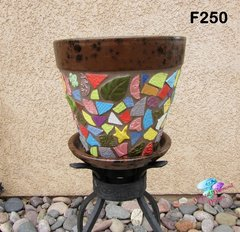 MOSAIC FLOWER POT - HANDMADE TILES Look great in your Home F250