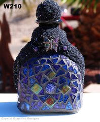 Unique Mosaic Patron Bottle Hand Crafted it would look Cool on your Bar W210