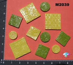 Yellow and Green Do - Dads Filler Tiles Handmade Mosaic Tiles M2039