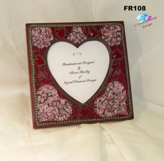 Red Heart - Tempered Glass Handmade Mosaic Picture Frame for your Home - FR108